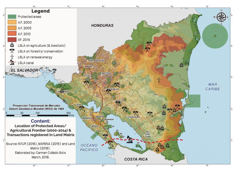 Mapa de Transacciones Nicaragua