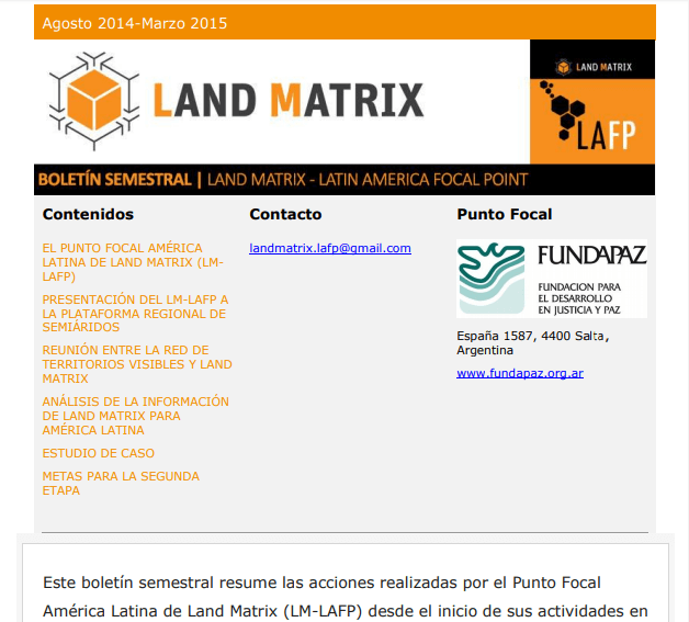 10 - Semestral Land Matrix LAFP