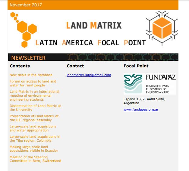 28 - November 2017 Land Matrix LAFP