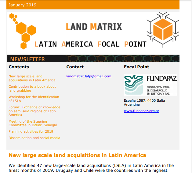 34 - January 2019 Land Matrix LAFP