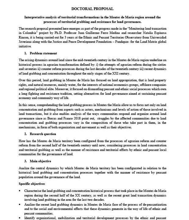 Proyecto Doctorado Javeriana