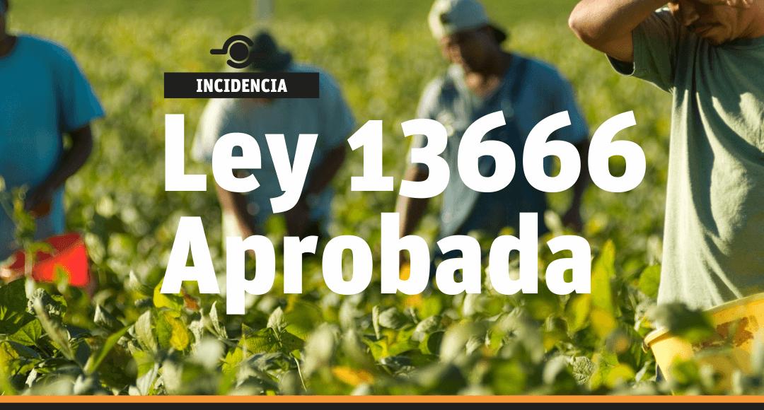 Ley 13666 aprobada